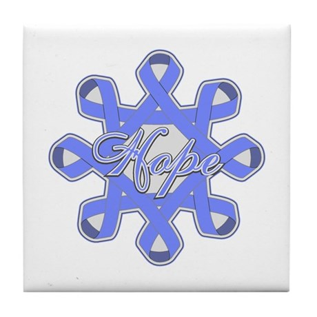 Esophageal Cancer Ribbons Tile Coaster