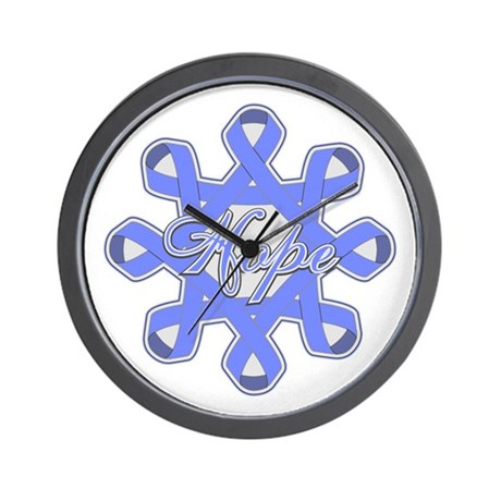 Esophageal Cancer Ribbons Wall Clock