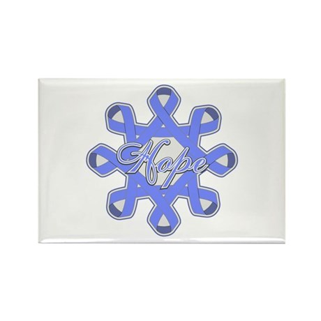 Esophageal Cancer Ribbons Rectangle Magnet (10 pac