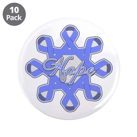 "Esophageal Cancer Ribbons 3.5"" Button (10 pack)"