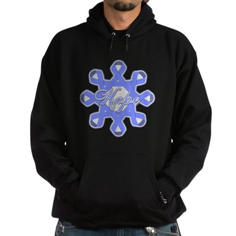 Esophageal Cancer Ribbons Hoodie (dark)