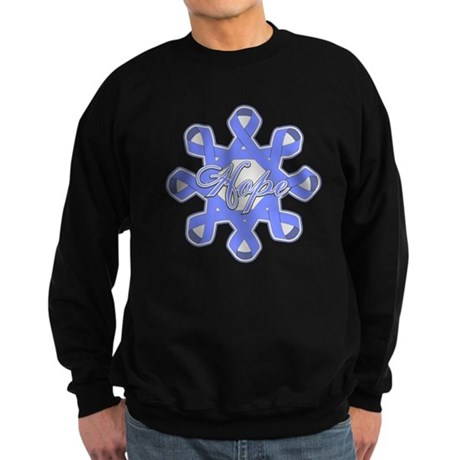 Esophageal Cancer Ribbons Sweatshirt (dark)