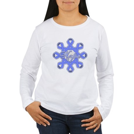 Esophageal Cancer Ribbons Women's Long Sleeve T-Sh