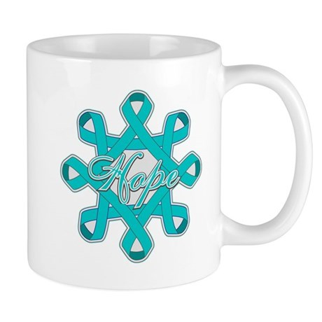 Ovarian Cancer Ribbons Mug