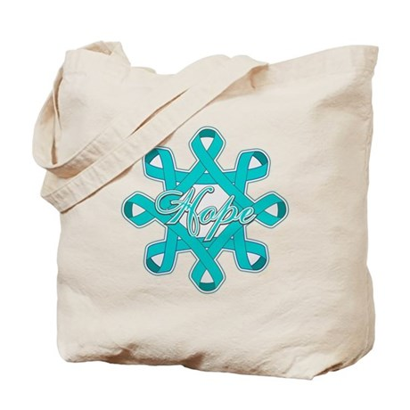 Ovarian Cancer Ribbons Tote Bag