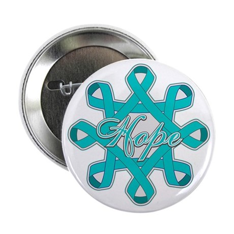 "Ovarian Cancer Ribbons 2.25"" Button (10 pack)"