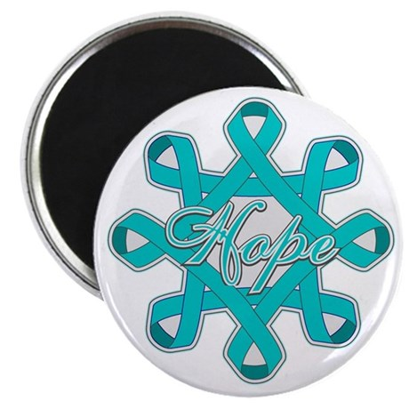 "Ovarian Cancer Ribbons 2.25"" Magnet (10 pack)"