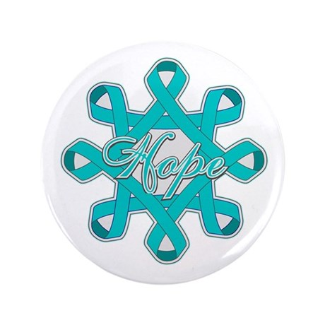 "Ovarian Cancer Ribbons 3.5"" Button (100 pack)"