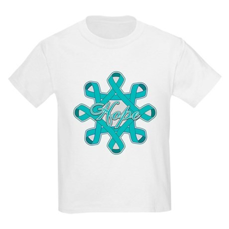 Ovarian Cancer Ribbons Kids Light T-Shirt