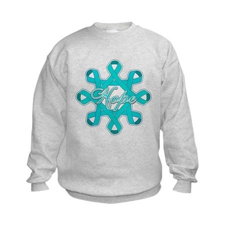 Ovarian Cancer Ribbons Kids Sweatshirt