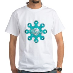 Ovarian Cancer Ribbons White T-Shirt