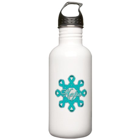 Ovarian Cancer Ribbons Stainless Water Bottle 1.0L