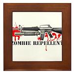 Zombie Repellent Dark Shirts Framed Tile