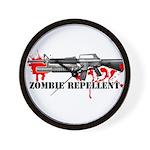 Zombie Repellent Dark Shirts Wall Clock