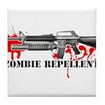 Zombie Repellent Dark Shirts Tile Coaster
