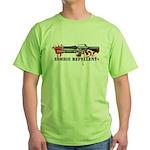 Zombie Repellent Dark Shirts Green T-Shirt