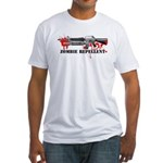 Zombie Repellent Dark Shirts Fitted T-Shirt