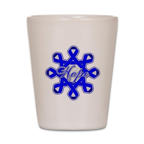 Colon Cancer Ribbons Shot Glass