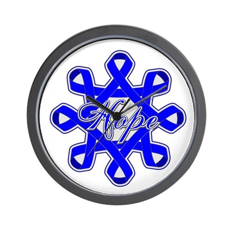 Colon Cancer Ribbons Wall Clock