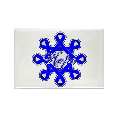 Colon Cancer Ribbons Rectangle Magnet