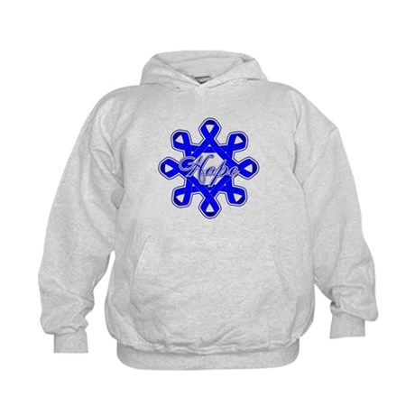Colon Cancer Ribbons Kids Hoodie