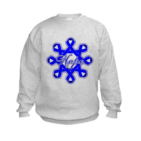 Colon Cancer Ribbons Kids Sweatshirt