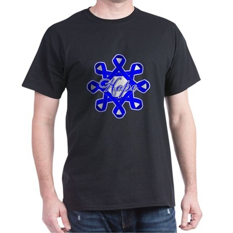 Colon Cancer Ribbons Dark T-Shirt