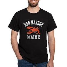 Bar Harbor Maine Black T-Shirt