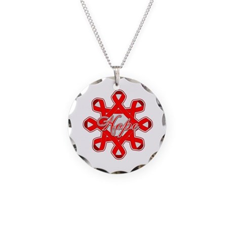 Blood Cancer Ribbons Necklace Circle Charm