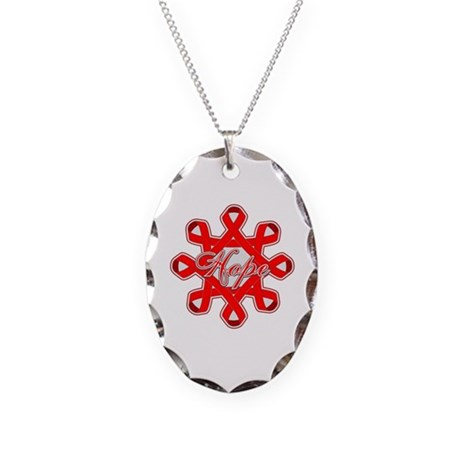 Blood Cancer Ribbons Necklace Oval Charm