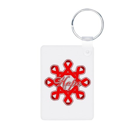Blood Cancer Ribbons Aluminum Photo Keychain