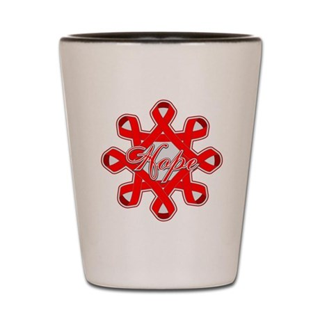 Blood Cancer Ribbons Shot Glass