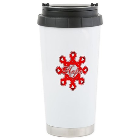 Blood Cancer Ribbons Ceramic Travel Mug