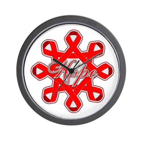 Blood Cancer Ribbons Wall Clock