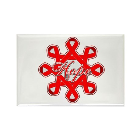 Blood Cancer Ribbons Rectangle Magnet