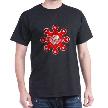 Blood Cancer Ribbons Dark T-Shirt