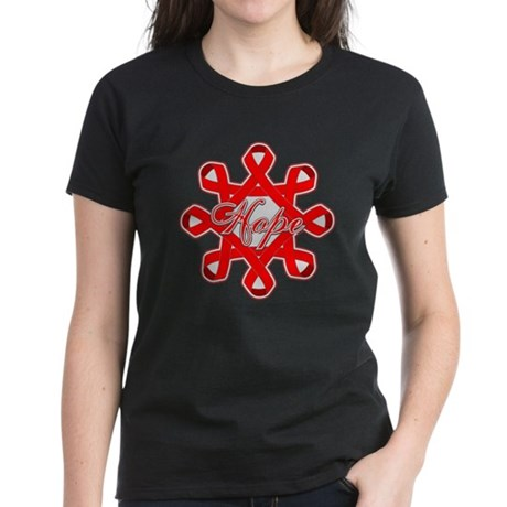 Blood Cancer Ribbons Women's Dark T-Shirt