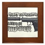 HK USP Handgun Silencer Framed Tile