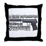 HK USP Handgun Silencer Throw Pillow