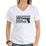 HK USP Handgun Silencer Women's V-Neck T-Shirt