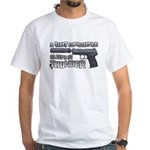 HK USP Handgun Silencer White T-Shirt