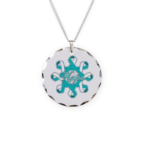 Cervical Cancer Ribbons Necklace Circle Charm