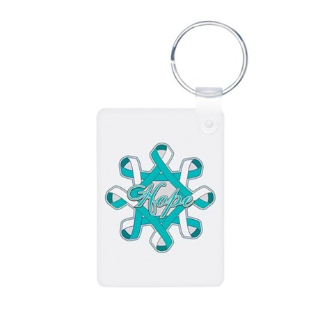 Cervical Cancer Ribbons Aluminum Photo Keychain