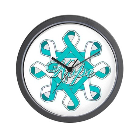 Cervical Cancer Ribbons Wall Clock