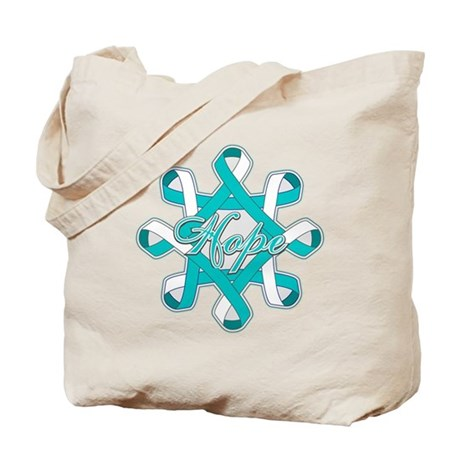 Cervical Cancer Ribbons Tote Bag