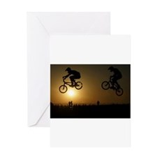 bmx set Greeting Cards