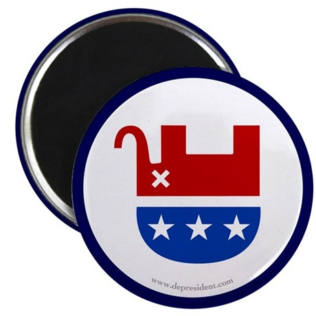 "Dead Republican Elephant 2.25"" Magnet (10 pack)"