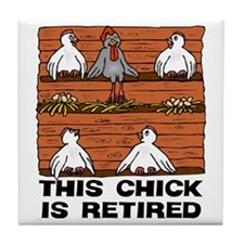 Retired Chick Tile Coaster