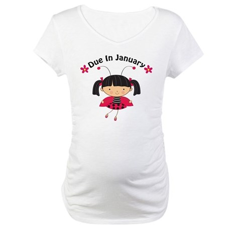 Cute January Pregnancy Maternity T-Shirt