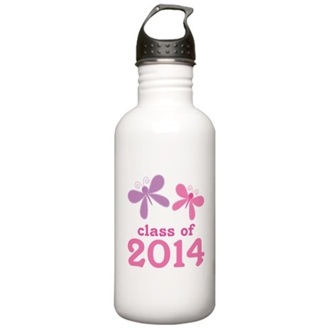 2014 Girls Graduation Stainless Water Bottle 1.0L